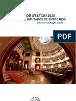 Balance de Gestión 2020 Cámara de Diputados