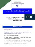 Présentation eclairage public DPE