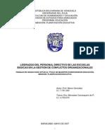 LIDERAZGO DEL PERSONAL DIRECTIVO DE LAS ESCUELAS BÁSICAS EN LA GESTIÓN DE CONFLICTOS ORGANIZACIONALES