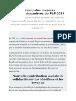 le PLF2021