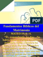 Principios Biblicos del Matrimonio