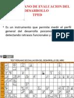 TEST PERUANO DE EVALUACION DEL DESARROLLO