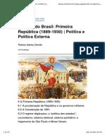 00006 A Primeira República (1889-1930)