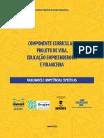 Caderno Componente Curricular Projeto de Vida, Educação Empreendedora e Financeira