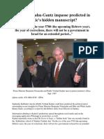 Kaduri - Netanyahu vs Gantz