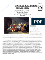 Ancient Greek and Roman Philosophy Spring 2011
