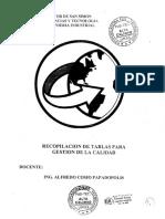 Alfredo Cosio P - Tablas Planes de Muestreo y Formularios