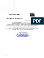 Curriculo Ricardo Romero Febrero 2011- Web