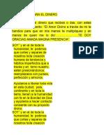 BENDICIÓN PARA EL DINERO
