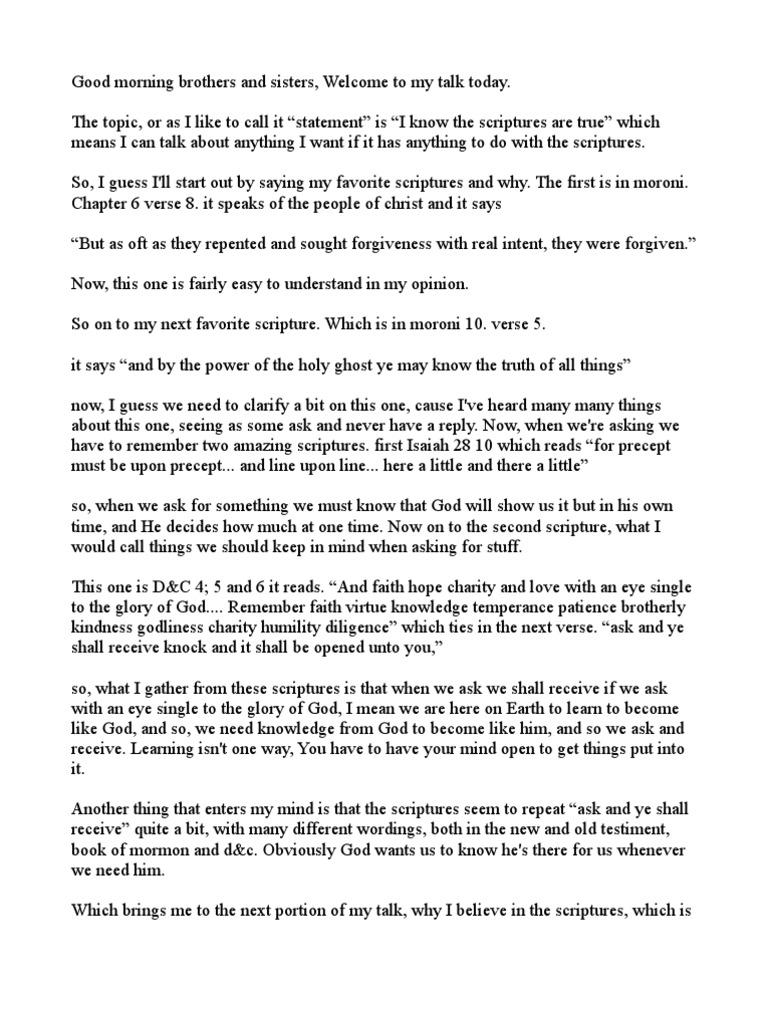 My talk   Book Of Mormon   Isaiah
