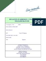 Bulletin d'adhésion UNSA-GMF TELEASS