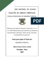 Tesis-Elaboración de Tabla de Volumen Comercial de Guazuma crinita Mart. (Bolaina blanca)