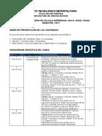Cronograma curso de Cálculo Diferencial CDX24 01-2011 Ver 1