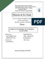 Analyse de la logistique de l'entreprise S.A.R.L IFRI.pdf
