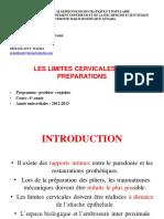 Les Limites cervicales des préparations_final