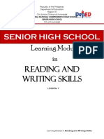 Lesson 07 - Reading and Writing Skills