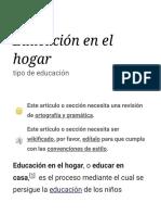 Educación en el hogar - Wikipedia, la enciclopedia libre
