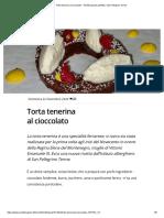 Torta tenerina al cioccolato - Ricette (quasi) perfette, San Pellegrino Terme