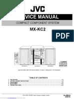 Jvc mxkc2 minicomponent service manual