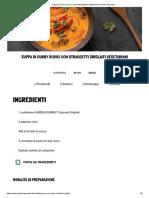 Zuppa di curry rosso e straccetti grigliati vegetariani _ Garden Gourmet