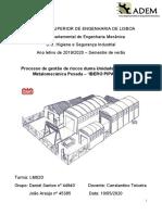 Higiene e segurança industrial numa metalomecânica