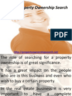 Role of Property Ownership Search