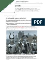 Verdades Especiais_ A Reforma de Lutero era Política