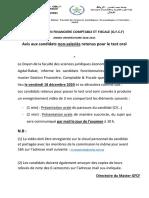 AVIS & LISTE POUR TEST ORAL GFCF 2020_2021 non Salariés