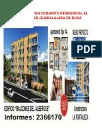 Presentación del proyecto conjunto residencial el albergue guadalajara de Buga