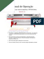 Manual de Operação Triton 210