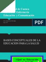 BASES CONCEPTUALES DE LA EDUCACION PARA LA SALUD Y DISEÑO EJECUCION Y EVALUACION DE UN PROGRAMA EDUCATIVO
