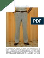 Tecnología de coser pantalones de los hombres de lino