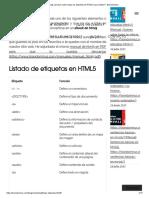 todas las etiquetas html5 que existen