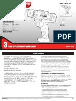 Ozito cordless hammer drill 12v ZLHDK 300 Combined Online Manual