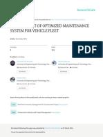 OptimizedSystemforVehicleFleet MAintenance PAPER