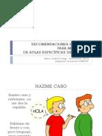 Recomendaciones Para Monitores de Autismo