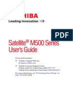 Toshiba M500 User's Manual