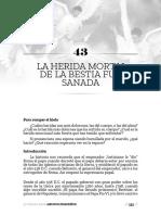 43_LA HERIDA MORTAL  DE LA BESTIA FUE  SANADA_