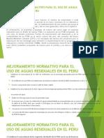 MEJORAMIENTO NORMATIVO PARA EL USO DE AGUAS RESIDUALES