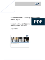White paper on Implementing SAP Identity Management