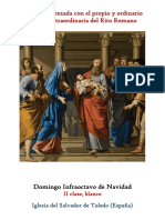 Domingo Infraoctavo de Navidad. Propio y Ordinario de la santa misa