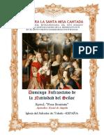 Domingo Infraoctavo de Navidad. Guía de los fieles para la santa misa cantada. Kyrial Fons Bonitatis y Angelis
