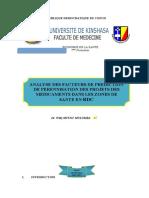 Analyse des facteurs de prédiction de pérennisation des Projets des médicaments dans les Zones de Santé en RDC.docx