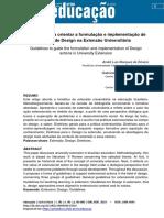 2018 - ARTIGO - DIRETRIZES PARA ORIENTAR A FORMULAÇÃO E IMPLEMENTAÇÃO DE AÇÕES DE DESIGN NA EXTENSÃO UNIVERSITÁRIA