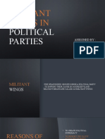 Militant Wings in Political Parties
