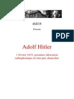 Hitler Adolf - 1 février 1933, première allocution radiophonique en tant que chancelier