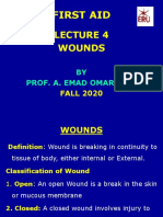 Lecture  4 first aid WOUNDS