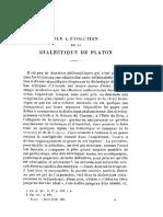 Rodier sur l evolution de la dialectique de Platon fr