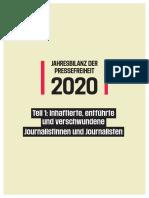 Pressefreiheit 2020. Jahresbilanz