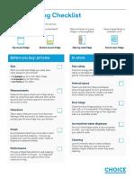 CHOICE Fridge buying checklist